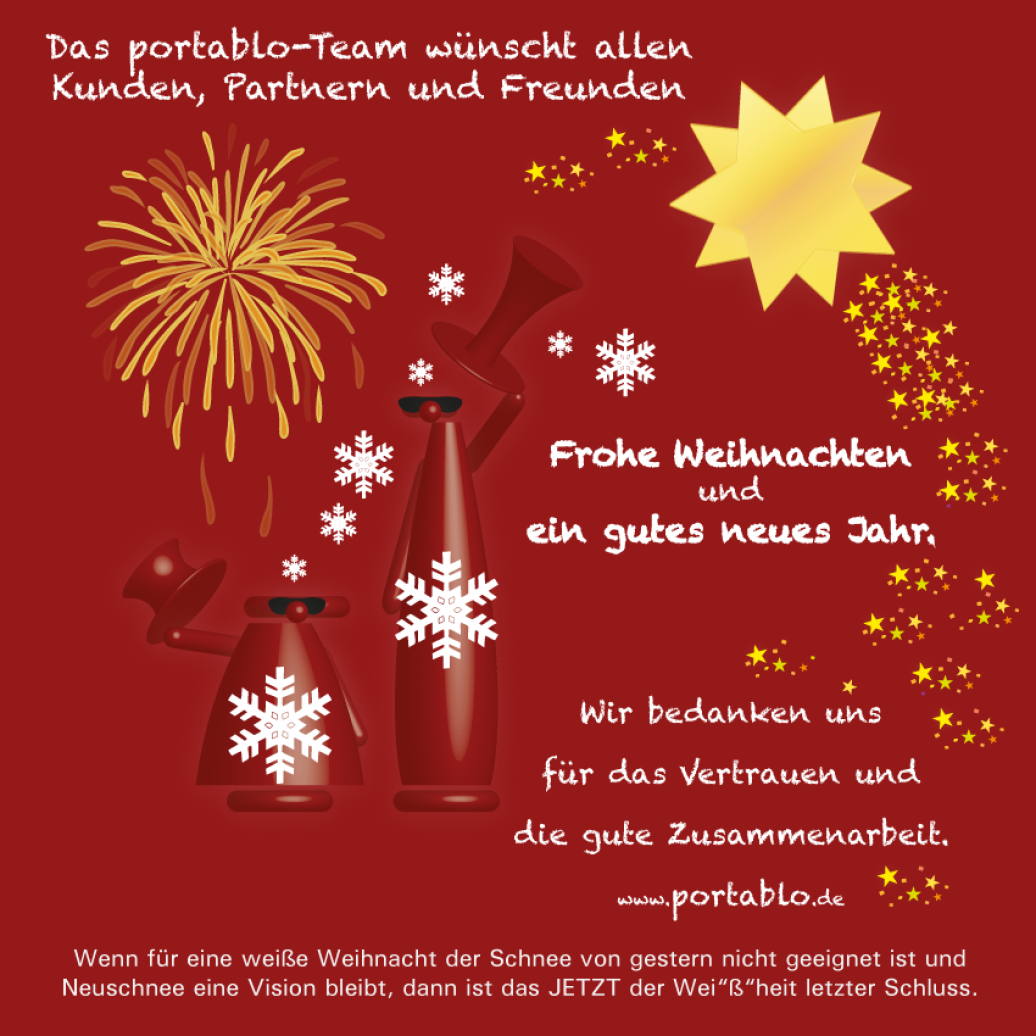 Frohe Weihnachten An Freunde.Portablo Portablo Wünscht Frohe Weihnachten